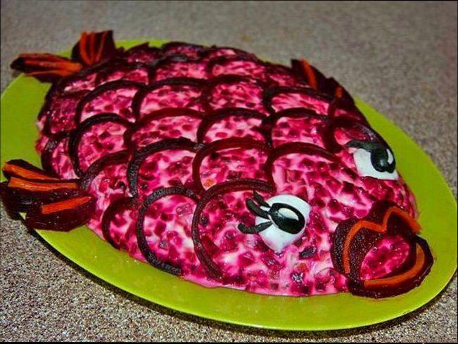 салат под шубой рецепт с фото оформление #10