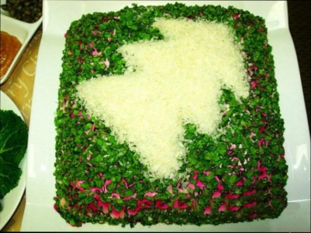 как украсить шубу салат фото