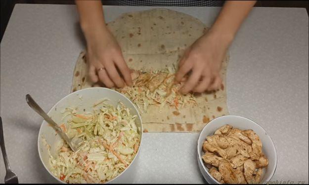 Шаурма по-домашнему с курицей рецепт как заворачивать