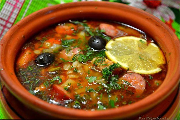 Рецепт супа солянка сборная мясная с фото