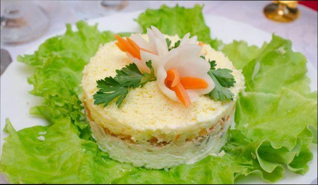 Оформление салат парус фото