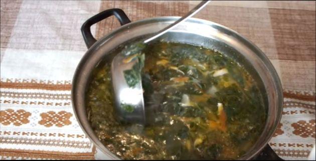 рецепт щавелевого супа с яйцом без мяса