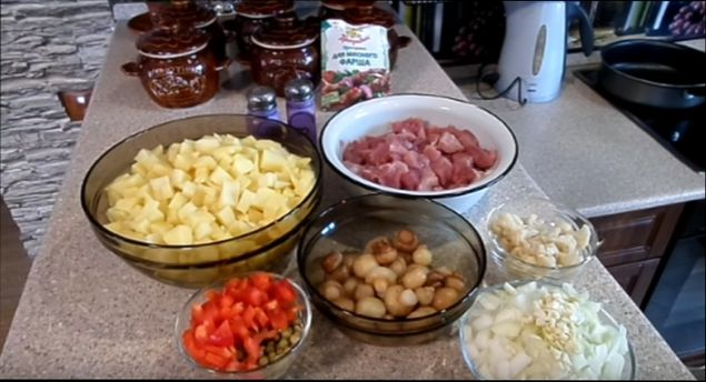 Блюда в горшочках с картошкой мясом грибами и картошкой в духовке рецепт 169