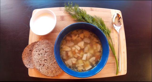 рецепт грибного супа из шампиньонов и лапшой