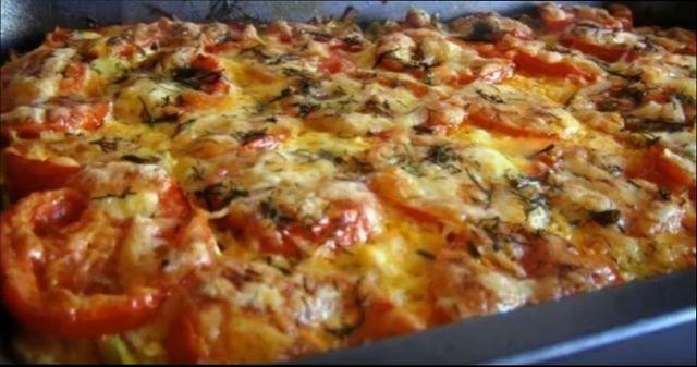 Блюдо из кабачков в духовке — запеченная пицца из кабачков