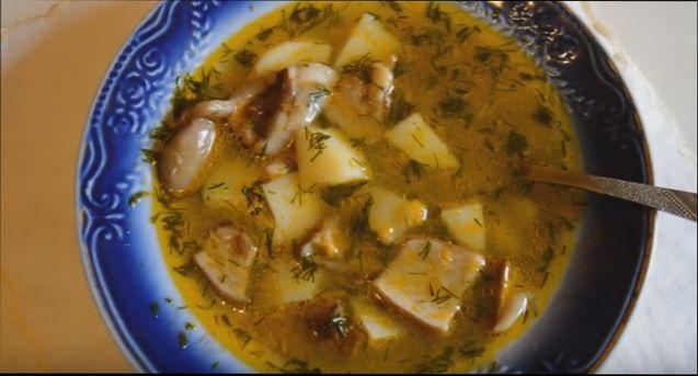 рецепт грибного супа из сушеных грибов с мясом
