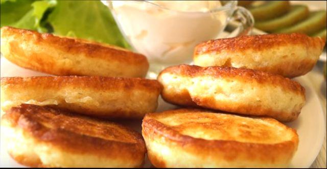 оладьи на кефире - простой рецепт без дрожжей