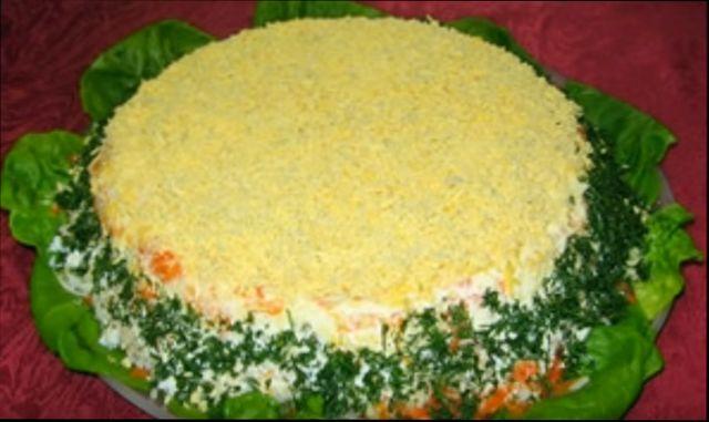 Салат мимоза с рыбными консервами классический рецепт