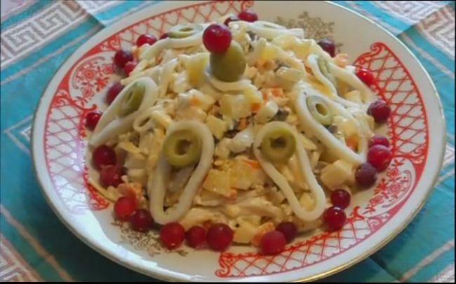 Салат с кальмарами (более 100 рецептов с фото) 77