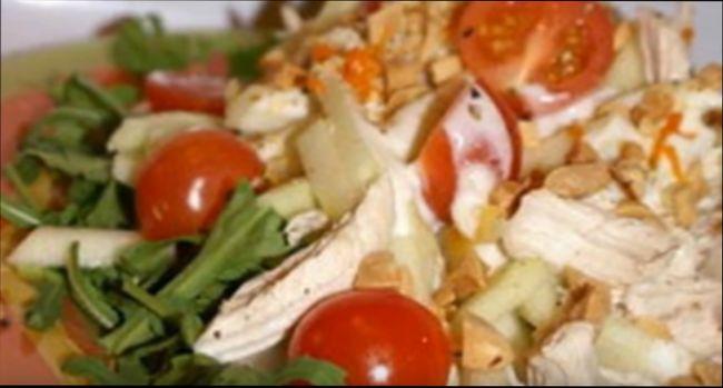 Мясные салаты для праздничного стола