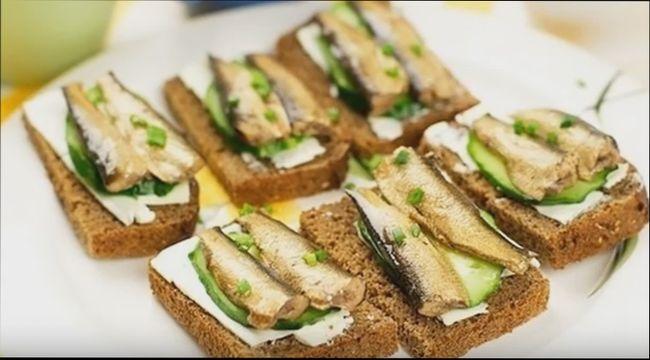 Бутерброды со шпротами - простые и красивые рецепты закуски на праздничный стол
