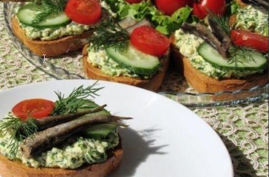 Как готовить красивые бутерброды со шпротами на праздничный стол