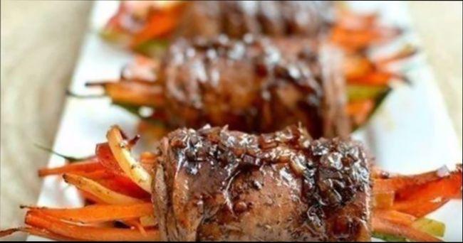 Мясные роллы из свинины