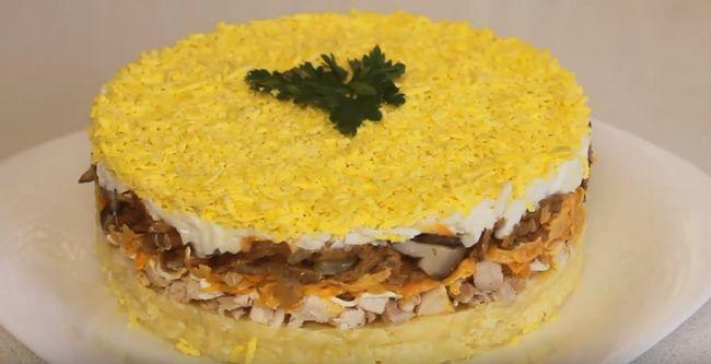 Салат с курицей и грибами — 5 лучших рецептов простых и вкусных салатов с куриным мясом