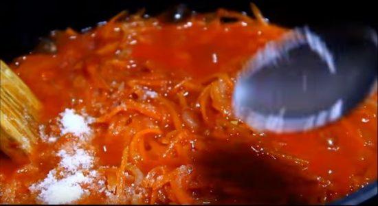 Пошаговый рецепт приготовления обжаренной рыбы в томате