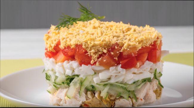 Салат из курицы с огурцом. Рецепты салата с курицей - солеными и свежими огурцами