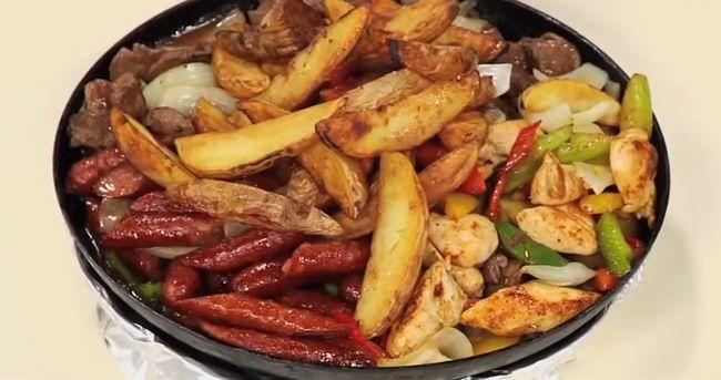 картошка жареная рецепты с луком, салом и грибами