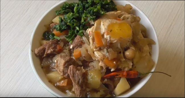 Лагман со свининой и картошкой