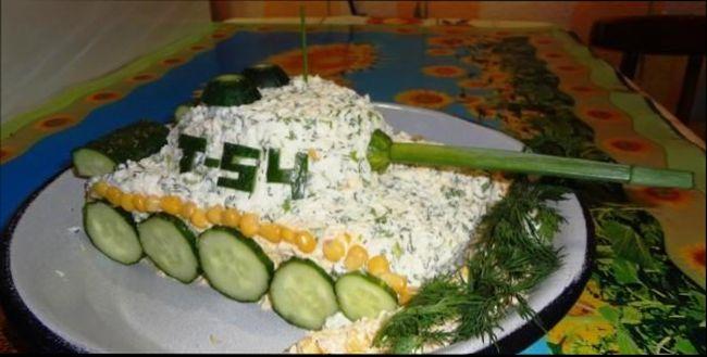 Супер актуальный салат к 23 февраля - «Танк»
