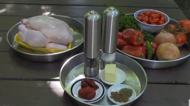 Процесс приготовления чахохбили по шагам