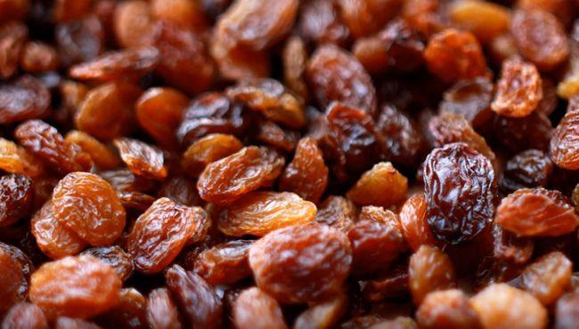 Калорийность изюма и содержание витаминов