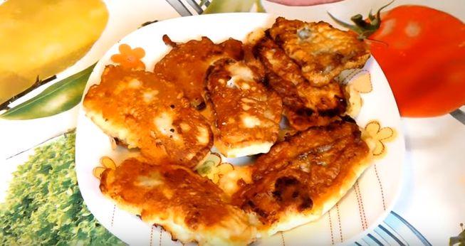Жареная рыба в кляре с орехами