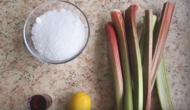 Пошаговый рецепт приготовления - варенье из ревеня