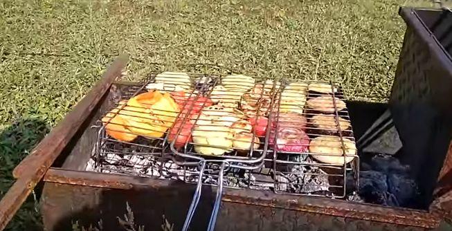Овощи на мангале запеченные на углях, как вкусно приготовить овощи - гриль