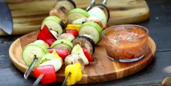 Маринад для овощей, запечённых на углях