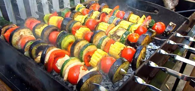 Овощной шашлык - простой рецепт приготовления