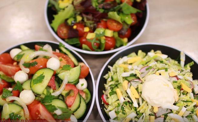 Летние салаты из свежих овощей