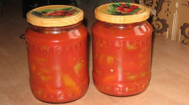 вкусное лечо с огурцом в томатном соке