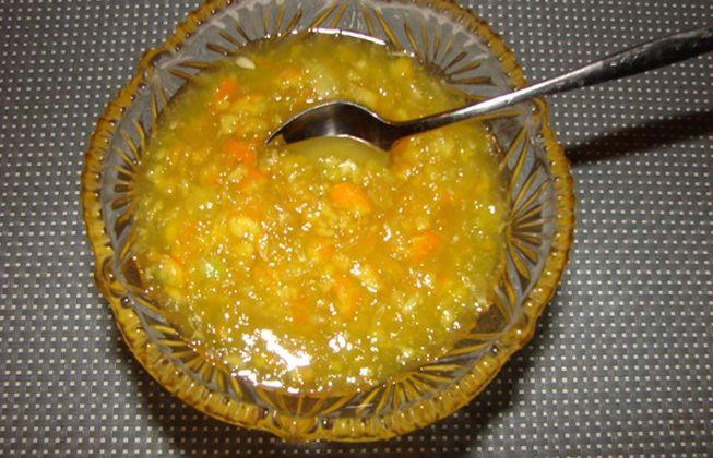 рецепт варенья из кабачков с апельсином и имбирем