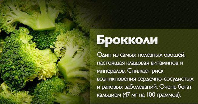 ценность брокколи