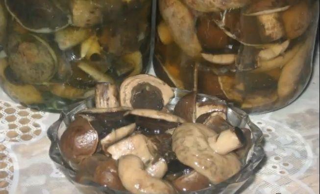 Маринованные подберезовики - рецепт на 1 литр