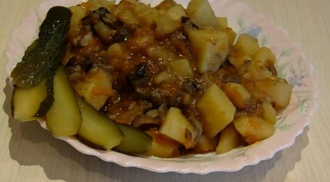 как вкусно стушить картошку с грибами