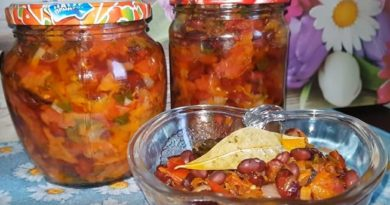 Салат с фасолью на зиму — 5 вкусных и полезных рецептов