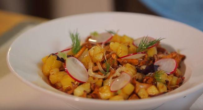 Жареная картошка с грибами - рецепты и способы приготовления