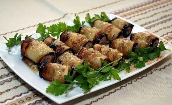 Печень в баклажанах - новогодние закуски с нежным и ярким вкусом
