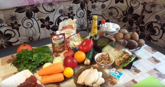 Разнообразие продуктов в Новогоднюю ночь