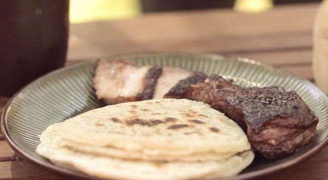 Оригинальная китайская закуска с блинчиками