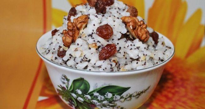 Рождественскийварианткутьи - рецептизриса с орехами и медом
