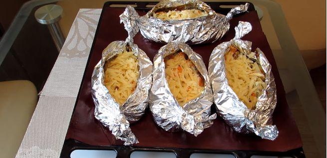 Рыба в фольге запеченная с картофелем в духовке
