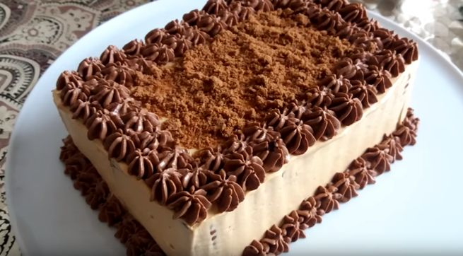 Шоколадно-мятный торт-мусс