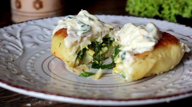 зразы - наполненные яйцом и зеленым луком