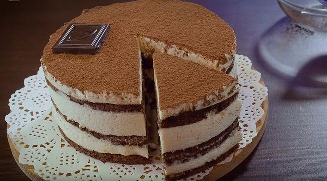 Десерт из шоколада Тирамису-лайт