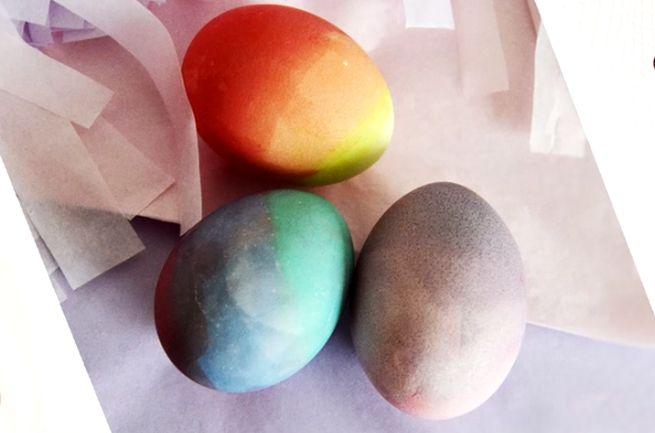 """Способ окраски яиц - """"Градиент"""""""