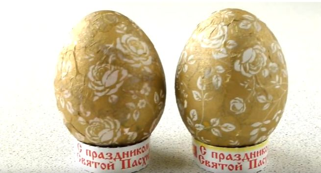 Яйца на Пасху с декупажем