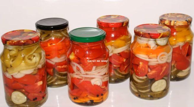 вариации салатов с болгарским перцем